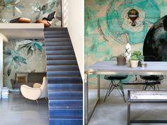 Italian wallpaper company Wall & Deco Wallpaper Companies, Dining Table, Blue, Furniture, Home Decor, Decoration Home, Room Decor, Dinner Table, Home Furnishings