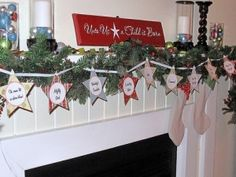 names of Jesus paint wooden stars, drill holes, thread and paint on names of Jesus, hang as garland all year
