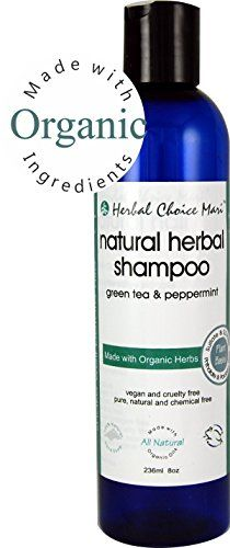 Herbal Choice Mari Shampoo mw Organic Green Tea  Peppermint 236ml 8oz * Click image to review more details.(It is Amazon affiliate link) #TreatYourHair