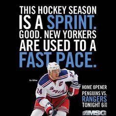 Tonight the Rangers return to Madison Square Garden for their Home Opener!! via New York Rangers on Facebook 20130120