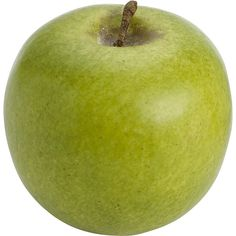Pier 1 Imports Green Artificial Apple (24 MXN) ❤ liked on Polyvore featuring home, home decor, floral decor, food, fillers, food and drink, fruit, accessories, circle and circular