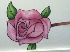 Rose made by promarkers