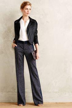 "Flecked Brighton Trousers - anthropologie.com      Tall inseam = 36.5"""