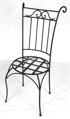 Stylish Patio Wing Back Chair Wrought Iron Materials   Style From Morocco