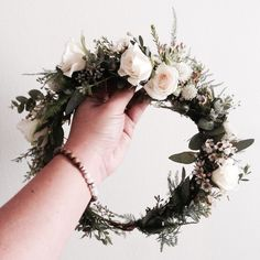 Garden-inspired Flower Crown // www.thecrowncollective.co