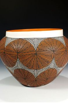 Acoma Pueblo Pottery Saw a lot of this in NM. Maybe I'll buy some when my son and I are more mature. #AlmadeLuce #Inspireworldheritage #Traditionalcollection #Heritagefurniture #goldfurniture #modernlivingroom