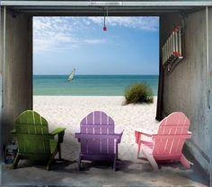 Fotoplane für Garagentor Beach House / Garage Mural Beach House