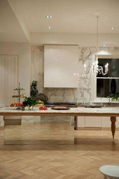 """""""Wyspa-stół - czyli jak ukryć szafki kuchenne  Projekt: Williams Burton Lepardi"""""""