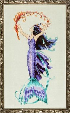 Mirabilia Designs - Sea Flora NC194, design by Nora Corbett - Mermaid Counted Cross Stitch