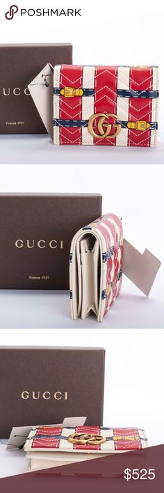 b5787d99fed Auth Gucci GG Marmont Leather Wallet with COA LKNW Authentic Gucci  GG   Marmont Wallet