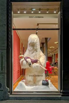 "DOLCE&GABBANA,Milan, Italy,""Don't worry Francesca.........he is harmless"", pinned by Ton van der Veer"