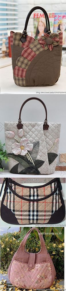 Sew on patchwork bags. – Sew on patchwork bags. Patchwork Bags, Quilted Bag, Patchwork Quilting, Sacs Tote Bags, Bag Sewing, Sewing Jeans, Diy Sac, Fabric Bags, Fabric Basket