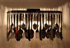 Very very cool  - Lighting-Design-image #recycled #DIY #housedesign #homedecor #lighting #chandelier