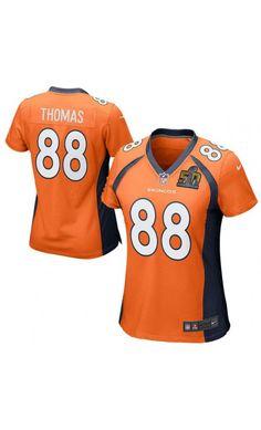 NFL Women's Denver Broncos Demaryius Thomas Orange Super Bowl 50 Bound Game Jersey #SB50 #football #sportsjersey