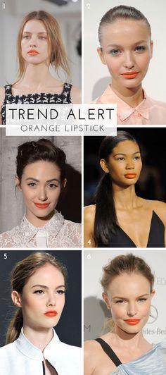 Trend Alert! We're LOVING Orange Lipstick