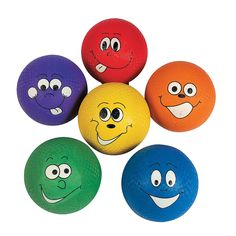 Happy Face Playground Balls - OrientalTrading.com