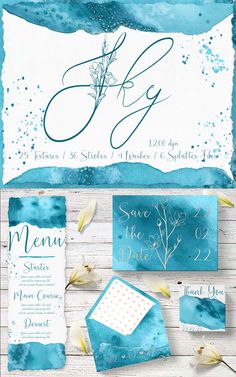 #Sky #Blue #Turquoise #Digital #Textures #Watercolor #Wedding #Stationary #Branding #Abstract