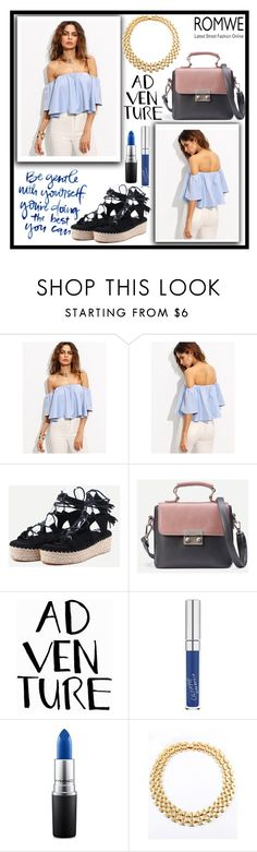 """""""Romwe 2. / 2"""" by b-necka ❤ liked on Polyvore featuring MAC Cosmetics and romwe"""