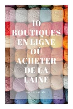 Tricot: 10 Online-Shops, in denen Sie Wolle finden - Marie Claire Idées. Marie Claire, Knitting Stitches, Knitting Patterns, Crochet Patterns, Online Shops, Knitted Baby Blankets, Diy Dress, Beautiful Crochet, Diy Crochet
