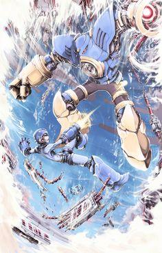 Mega Man vs Air Man. Wow. #geek #megaman