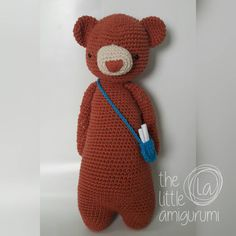Bear made by the_little_amigurumi. Crochet pattern by Little Bear Crochets: www.littlebearcrochets.com ❤️ #littlebearcrochets #amigurumi