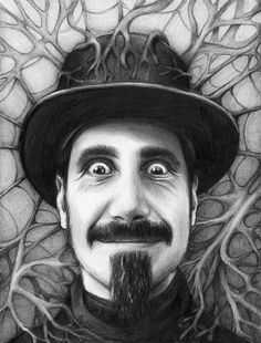 ☆ Serj Tankian Portrait Drawing :¦: Art By Olechka ☆ System Of A Down, Avenged Sevenfold Wallpapers, Beatles, Music Artwork, Portrait Art, Portraits, Beautiful Drawings, Female Art, Pencil Drawings