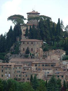 Cetona, Toscana, Italy - my friends' wedding reception was held in La Rocca, the villa at the pinnacle of the village