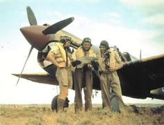 RAF P-40 Warhawk pilots in North Africa, 1942. Pin by Paolo Marzioli