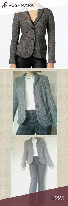 Maxmara herringbone stretch knit blazer/ cardigan NWT SIZE medium. herringbone tweed look. Stretch knit and cozy like a cardigan, but polished like a blazer.   From fall 2017 collection. MaxMara Jackets & Coats Blazers