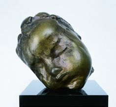 """Head of a Sleeping Child"" by Constantin Brancusi. 1906-7 bronze sculpture. Kinda cool; a little creepy. In the collection of The Kreeger Museum, Washington, DC."