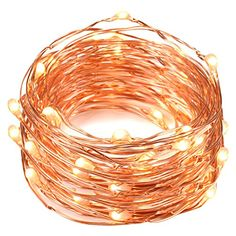 String Lights, Oak Leaf 2 Set of Micro 30 LEDs Super Bright Warm White Color Wire Rope Lights Battery Operated on Ft Long Copper Color Ultra Thin String Copper Wire F Home Bedroom Party Tree Led Rope Lights, Indoor String Lights, Twinkle Lights, Moon Lights, Light String, Solar Lights, Wedding Jars, Diy Wedding, Garlands