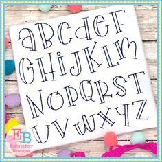 Alphabet Cursif, Cool Fonts Alphabet, Handwriting Alphabet, Hand Lettering Alphabet, Embroidery Alphabet, Embroidery Fonts, Embroidery Designs, Hand Embroidery, Embroidery Boutique