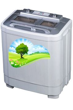 Dual Tub Washing Machine And Spin Dryer Combo: With Automatic Rinse Cycle And Compact Footprint. Totally Portable. Perfect For Travel, Apartments or Dorm Rooms.