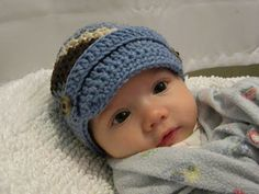 Knotty Knotty Crochet: LIttle brimmed hat FREE PATTERN!