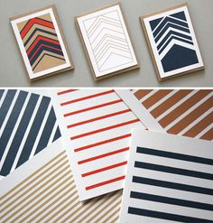 Karte Design Fabrik is back with six new card collections — the Herringbone and Stripetown collections.
