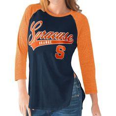 G-III For Her Syracuse Orange Blue/Orange Halftime Three-Quarter Raglan T-Shirt, Size: Small, Team