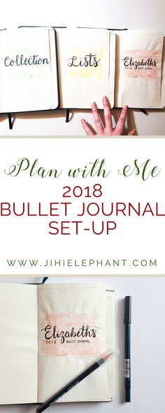 Plan with Me   2018 Bullet Journal Set-up