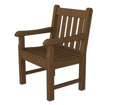 Polywood RKB24TE Rockford Garden Arm Chair in Teak