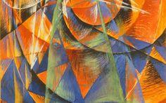 Pintura en el Manifiesto Futurista de Filippo Tommaso Marinetti (1876-1944).
