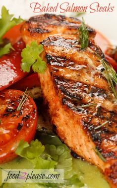 Baked Salmon Steaks - A good way to prepare salmon in the winter when the grill isn't an option….
