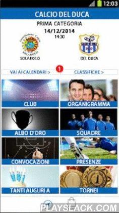 """Asd Calcio Del Duca - Cervia  Android App - playslack.com , Segui il mondo del """"Calcio del Duca"""". Aggiornamenti delle partite in programma, risultati, convocazioni, statistiche e molto altro ancora."""