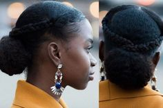 But do you see the details in this low bun with braids, tho? | 15 Easy Protective Styles You Can Do Even If You Suck At Hair
