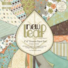 PREMIUM FIRST EDITION PAPER PAD - PAD N LEAF - 64 ARK FIRST EDITION-New Leaf Collection.This package contains one 6x6 inch paper pad with sixty-four sheets of scrapbook paper: 4 each of 16 designs. 32 sheets are single sided with embossed glitter accent and 32 are double sided. Acid free.