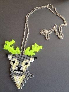 Hama deer necklace