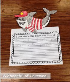 Fun in the Ocean! Math and Literacy Activities! Clark the Shark