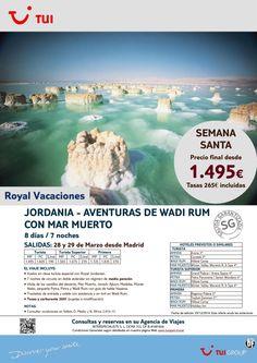 S. Santa-Jordania:Aventuras de Wadi Rum con Mar Muerto. Madrid 28 y 29Marzo.Precio final dsde 1.465€ ultimo minuto - http://zocotours.com/s-santa-jordaniaaventuras-de-wadi-rum-con-mar-muerto-madrid-28-y-29marzo-precio-final-dsde-1-465e-ultimo-minuto-2/