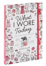 what i wore today book . full of neat tips, it's a great way to record your style all year round- with space for  other stuff like favourite playlists and stuff for around the home to be recorded. my personal tip if your trying to record and (or) change your style is buy a notebook (e.g. a moleskin A5 or similar) and take a polaroid of yourself each day and stick it in with a date and just write what your outfit consists of .