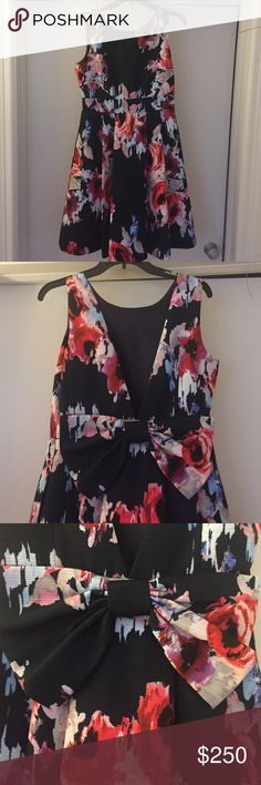 NWT Kate Spade Dress This brand new Kate Spade dress is perfect for a wedding, baby shower, or just party in the spring! It's navy and floral pattern makes for a statement no one will forget! kate spade Dresses