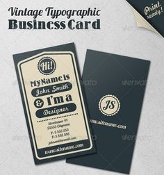 15 Typography Business Card Templates | Graphic & Web Design Inspiration + Resources