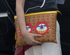Accessory Stalking at Paris Haute Couture Fashion Week: All eyes were on this kooky Craig & Karl clutch.